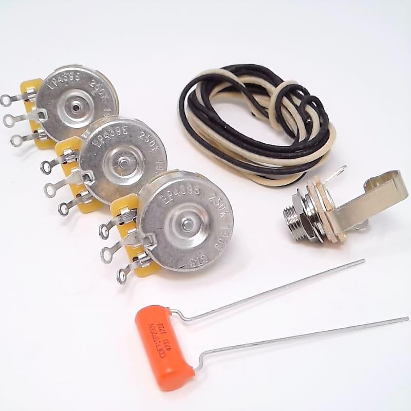 true custom shop vintage style wiring kit for fender jazz. Black Bedroom Furniture Sets. Home Design Ideas