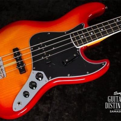 Fender Rarities Flame Ash Top Jazz Bass Plasma Red Burst for sale