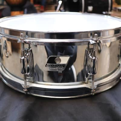 Ludwig 5x14 Rocker Snare 1980's Chrome over Wood