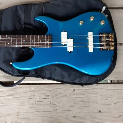 Used Valley Arts California Pro Electric Bass Guitar w/ Fender Gig Bag! Rare Blue Finish, EMG Pickups! for sale