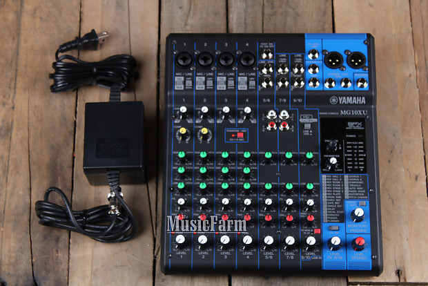 Yamaha mg10xu 10 channel mixer with usb output and spx for Yamaha mg10xu review