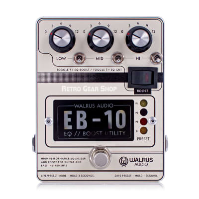 Walrus Audio EB-10 Cream EQ Boost Utility Preamp for sale