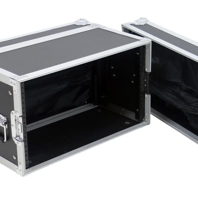 """OSP 6 Space 10"""" Deep ATA Guitar Effects Rack Road Case with Zipper Bags in Lids"""