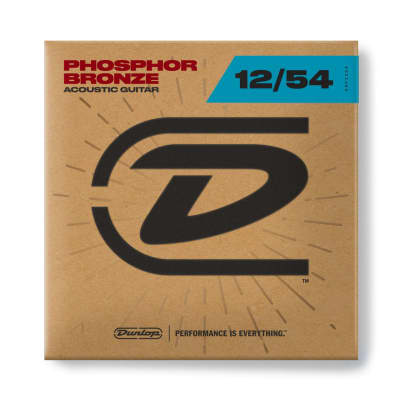 Dunlop DAP1254 Phosphorus Bronze Acoustic Guitar Strings Set 12-54