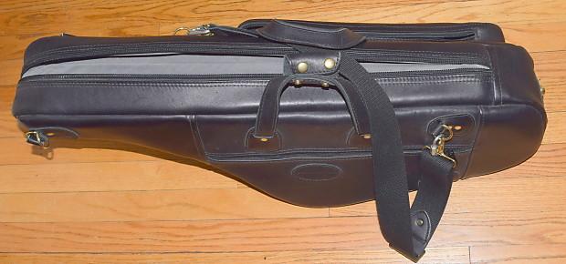 Reunion Blues Glenn Cronkhite tenor sax bag black leather made in USA