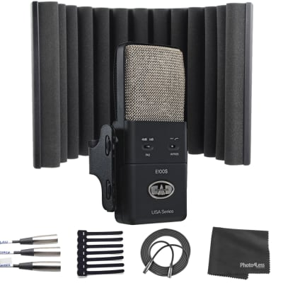 CAD Equitek E100S Supercardioid Condenser Mic + sE Electronics Portable Isolation Filter X + More