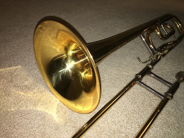 Yamaha ysl 646 professional tenor trombone with f for Yamaha trombones for sale