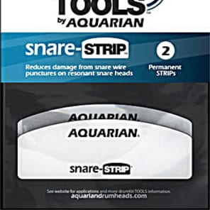 Aquarian SNARE STRIP reduces DAMAGE from SNARE WIRES on RESONANT Drumheads 2 PACK