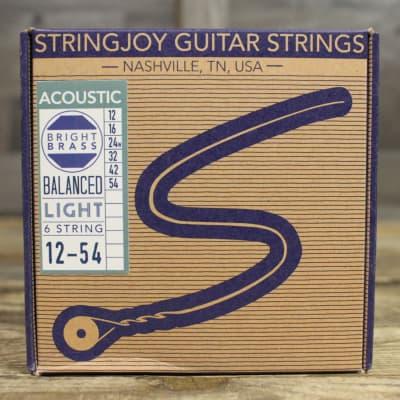 Stringjoy Brights | Light Gauge (12-54) 80/20 Bronze Acoustic Guitar Strings