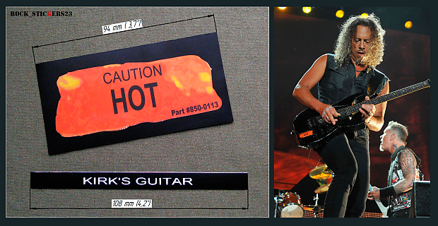 Caution Hot Stickers Esp Kh 2 Vintage Kirk Hammet