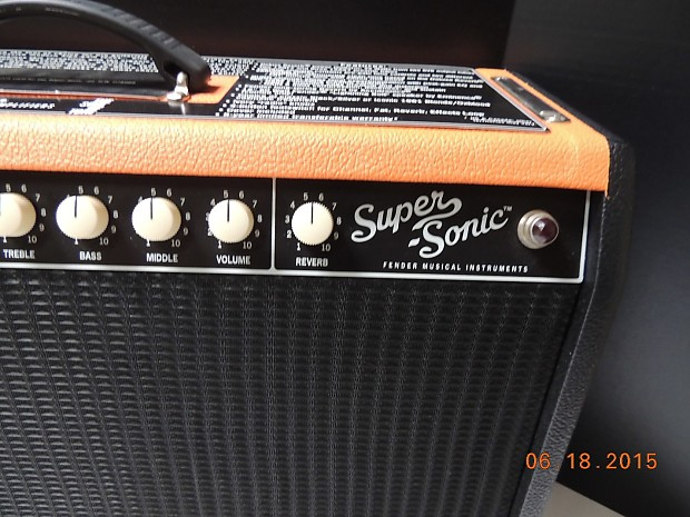 fender super sonic 22 watt combo fsr limited edition orange reverb. Black Bedroom Furniture Sets. Home Design Ideas