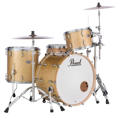 Pearl Masters Maple Complete 3pc Drum Set 24/13/16 Bombay Gold Sparkle Lacquer