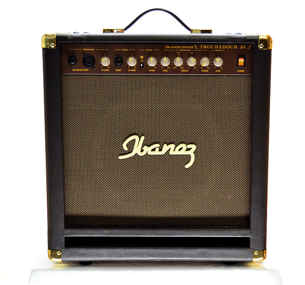 ibanez troubadour ta25 acoustic guitar amp w mic input efx reverb. Black Bedroom Furniture Sets. Home Design Ideas