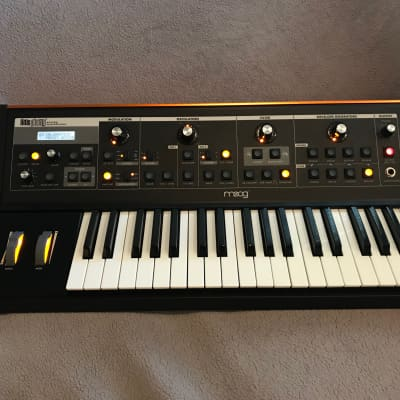 Moog  Little Phatty with CV Outs and Orange Solar Back Plate