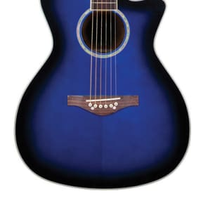 Daisy Rock Wildwood Acoustic/Electric Royal Blue Burst for sale