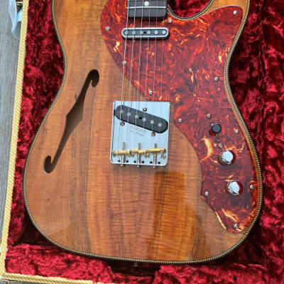 2020 Fender Custom Shop Artisan Thinline Telecaster - Natural Flamed Koa – New un-played for sale