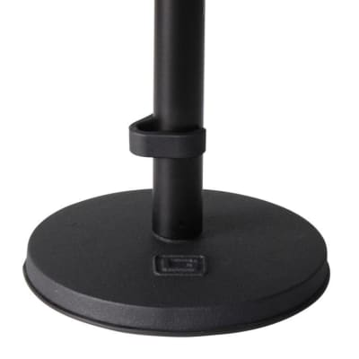 Gator GFW-MIC-0600 Desktop Microphone Stand with Weighted Round Base