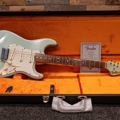 Fender Custom Shop 'The 66s' 66 Stratocaster Relic Sonic Blue #R71964 2013 Sonic Blue for sale