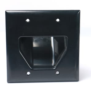 Elite Core Audio Q-1-PASSTHRU 2 Gang Cable Plate with Passthrough Opening