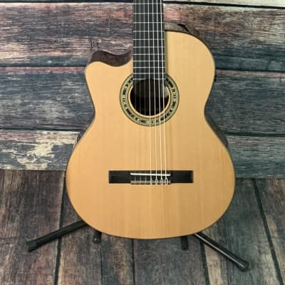Kremona Left Handed Fiesta CW-7 7 String Nylon String Acoustic Electric Classical Guitar for sale