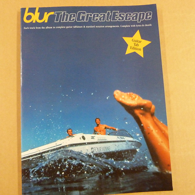 Songbook Blur The Great Escape Guitar Tab Edition 1995 Reverb