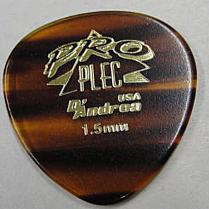 D'andrea Pro-Plec 385 Large Round Mandolin 1.5mm shell Guitar Picks -12 pack 2015 Natural