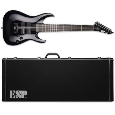 ESP STEF B-8 Stephen Carpenter Deftones 8-String Black Baritone Guitar MIJ with Hardshell Case for sale
