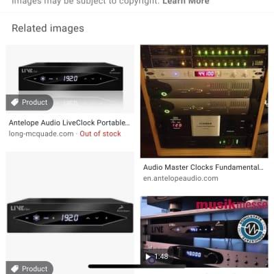 Antelope Audio Live Clock Portable Master Clock