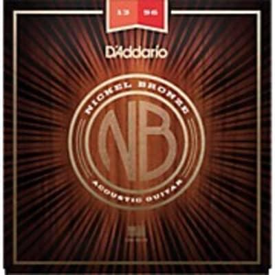 D'Addario NB1356 Medium Gauge Nickel Bronze Acoustic Guitar Strings, .013 - .056