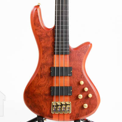 Schecter Stiletto Studio-4 FL Active Fretless 4-String Bass Honey Satin