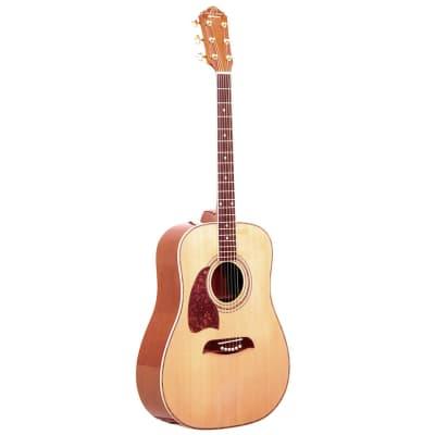 Oscar Schmidt OG2NLH Left-Handed Dreadnought Acoustic Guitar, Natural for sale