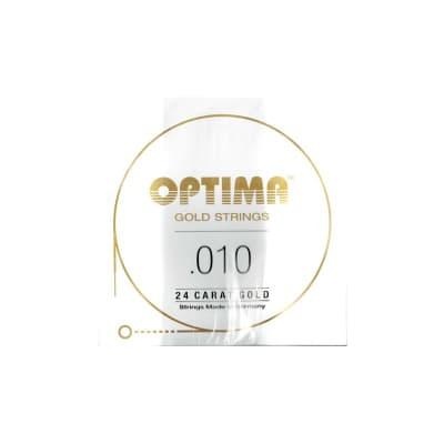 Optima Gold Strings 010 Plain Single