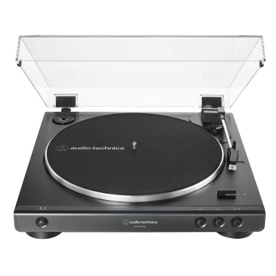 Audio Technica Consumer AT-LP60XUSB Fully Automatic Belt-Drive Stereo Turntable (Analog and USB), Black