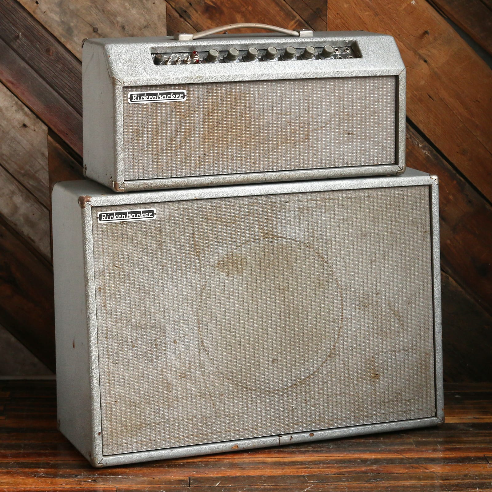 1964 Rickenbacker B-15A Supersonic Head & Cab Silver