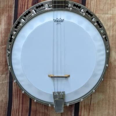 Very Nice Harmony Deluxe 4-String Tenor Banjo with Hardshell Case for sale