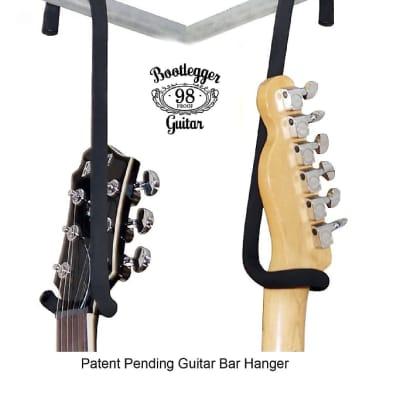 Two Guitar Bar Hanger's  Bootlegger Guitar 2020  Black