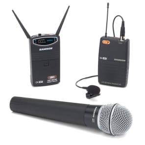Samson UM1/77 Micro Diversity Wireless Handheld/Lavalier Mic System - Channel N1 (642.375 MHz)