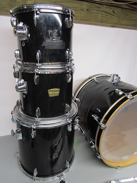 yamaha yd series 4 piece drum set black reverb. Black Bedroom Furniture Sets. Home Design Ideas
