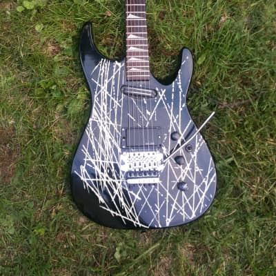 GTX Super Strat 1980s Black Neon White for sale
