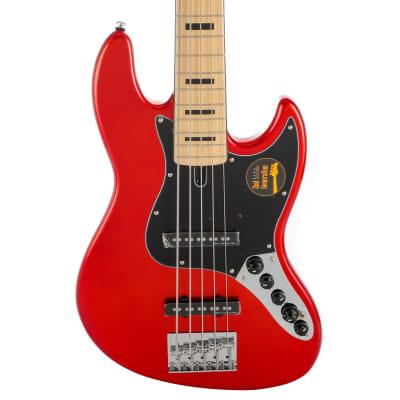 Sire Marcus Miller V7 Vintage Alder-5 (2nd Gen) 5 String Electric Bass Guitar - Bright Metallic Red for sale
