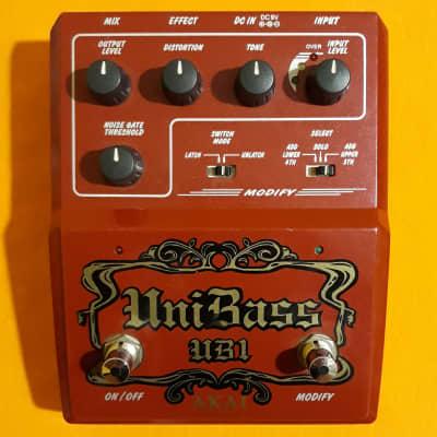 Akai UniBass UB1 Harmonized Bass Distortion w/box, manual, catalog & sticker for sale
