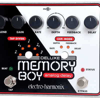 New Electro-Harmonix EHX Deluxe Memory Boy Analog Delay Tap Tempo Effect Pedal!