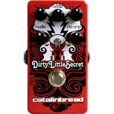 Catalinbread Dirty Little Secret Red Overdrive Pedal for sale