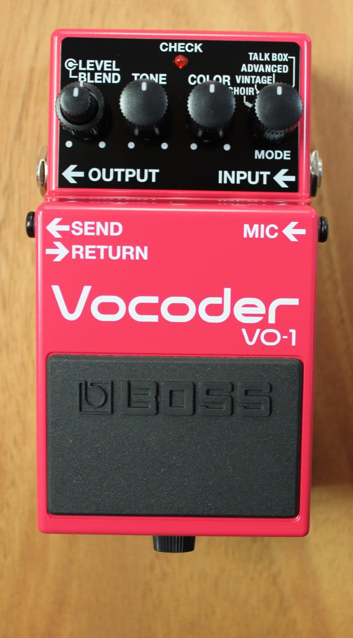 boss vo 1 vocoder talk box guitar effects pedal reverb. Black Bedroom Furniture Sets. Home Design Ideas