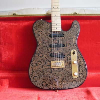 Fender Telecaster James Burton Black & Gold Paisley 1994/95 Black & Gold Paisley for sale