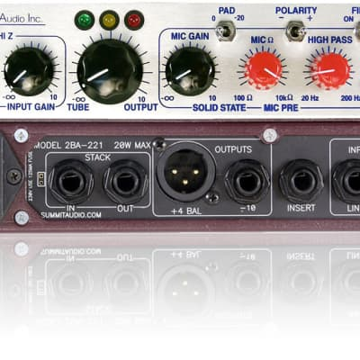 Summit Audio 2BA-221 Mic and Line Module