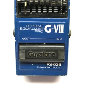 Guyatone PS-036, 8 Point Equalizer Pro. G-VIII, Made In Japan, 1980's, Vintage for sale