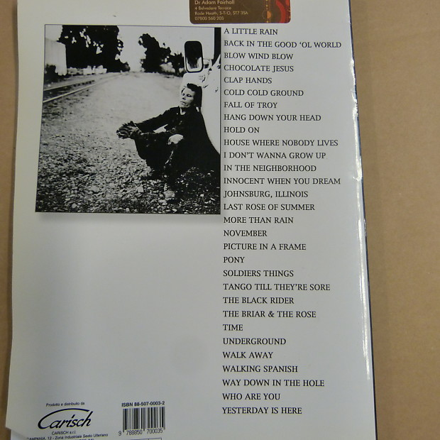 Songbook Tom Waits Anthology 1986 2000 Vocal Piano Reverb