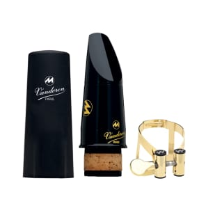Vandoren CM60058KG Masters Bb Clarinet Mouthpiece with M/O Gold Ligature - CL5 Facing