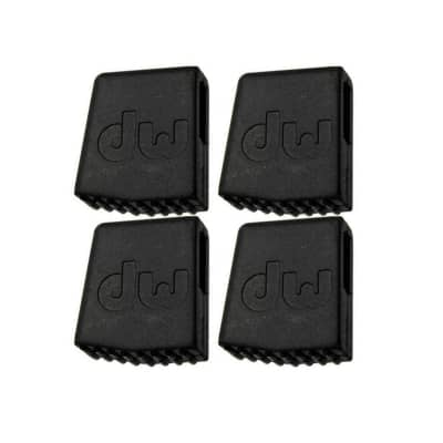 DW Rubber Foot For Flat Base Cymbal Stands (4 Pack Bundle)